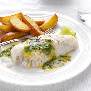 Haddock with Lime-Cilantro Butter Recipe