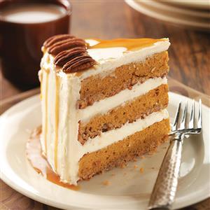 Pumpkin-Pecan Spice Cake Recipe