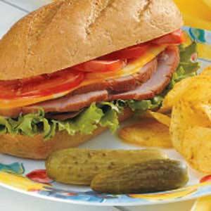 Baked Ham Hoagies Recipe