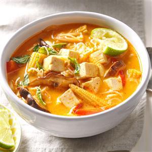 Veggie Thai Curry Soup Recipe