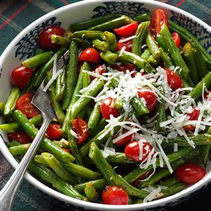 Roasted Italian Green Beans & Tomatoes Recipe