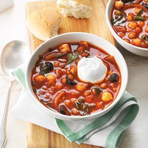 Spicy Lentil & Chickpea Stew Recipe