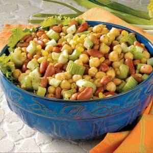 Curried Three-Bean Salad Recipe