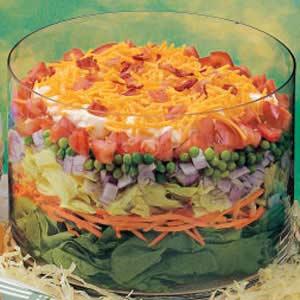 Layered Veggie Egg Salad Recipe