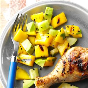 Grilled Mango & Avocado Salad Recipe