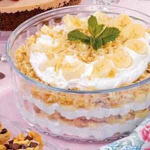 Banana Macaroon Trifle Recipe