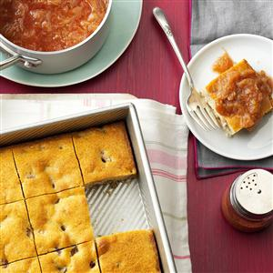 Shortcake with Fresh Rhubarb Sauce Recipe