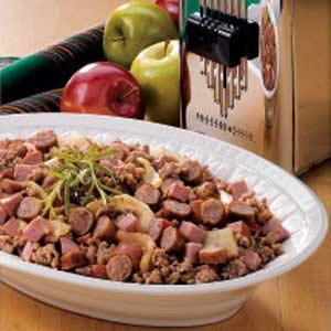 Meaty Apple Skillet Recipe