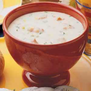 Pantry-Shelf Salmon Chowder Recipe