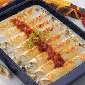 Makeover Creamy Halibut Enchiladas Recipe
