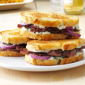 Grilled Beef & Blue Cheese Sandwiches Recipe