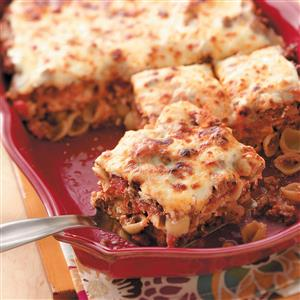 Cheesy Shell Lasagna Recipe