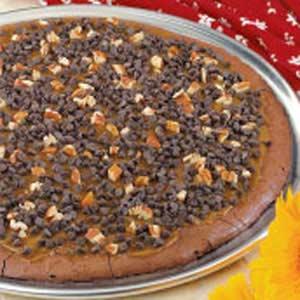 Caramel Brownie Pizza Recipe
