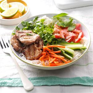 Grilled Pork Noodle Salad Recipe