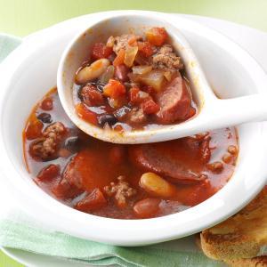 Hearty Beef & Bean Soup Recipe