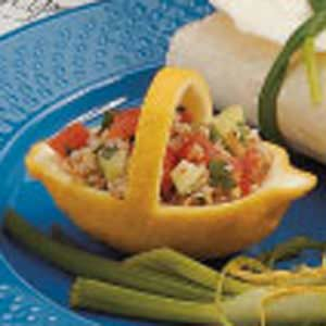 Bulgur Salad in Lemon Baskets Recipe