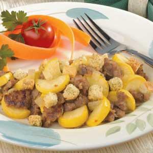 Sausage Squash Skillet Recipe