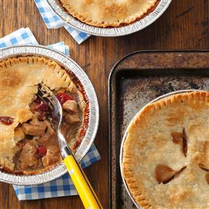 Individual Pork & Cranberry Potpies Recipe