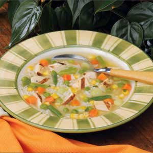 Chunky Chicken Rice Soup Recipe