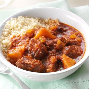 Moroccan Apple Beef Stew Recipe