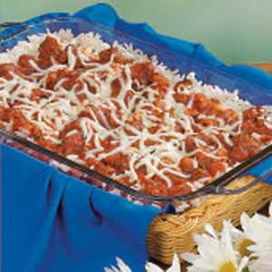 Pizza Rice Casserole Recipe
