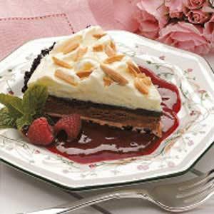 Chocolate Truffle Pie with Raspberry Sauce Recipe