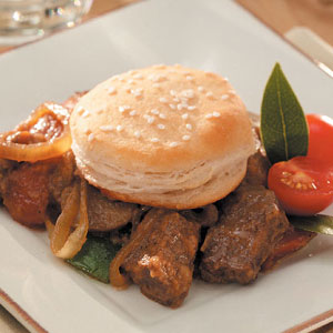 Oven Stew and Biscuits Recipe
