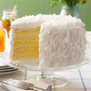 Six-Layer Coconut Cake with Lemon Filling Recipe