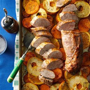 Orange-Glazed Pork with Sweet Potatoes Recipe