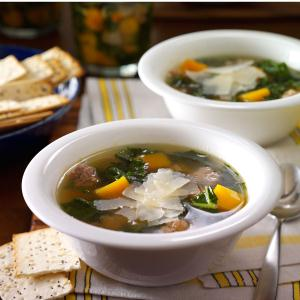 Turkey Sausage, Butternut Squash & Kale Soup Recipe
