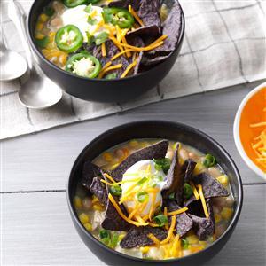 White Bean & Chicken Enchilada Soup  Recipe