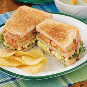 Triple-Decker Salmon Club Recipe