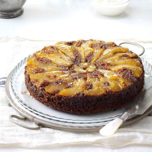 Upside-Down Pear Gingerbread Cake Recipe