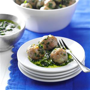 Pork Meatballs with Chimichurri Sauce Recipe