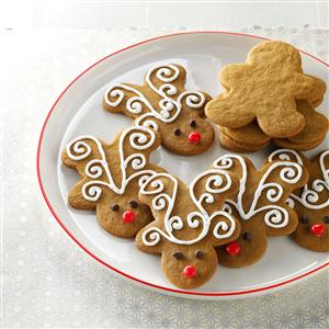 Jolly Ginger Reindeer Cookies Recipe
