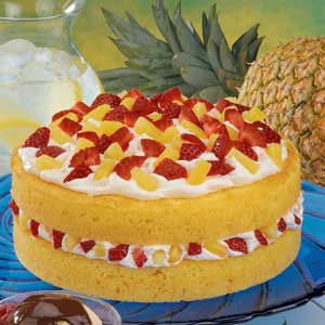 Fruit-Filled Orange Cake