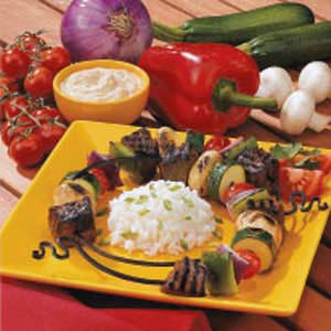Garden Bounty Beef Kabobs Recipe