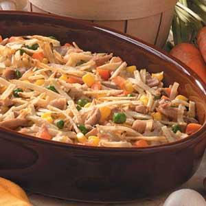 Tuna in the Straw Casserole Recipe