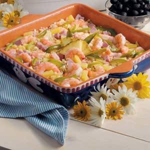 Pineapple Shrimp Rice Bake Recipe
