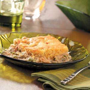 Cornbread-Topped Salmon Recipe