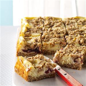 Cranberry Eggnog Cheesecake Bars Recipe