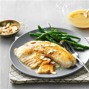 Lemon-Butter Tilapia with Almonds Recipe