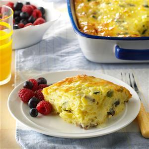 Cheesy Vegetable Egg Dish Recipe