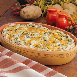 Spinach Mashed Potatoes Recipe