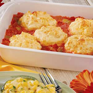 Biscuit-Topped Tomato Casserole Recipe