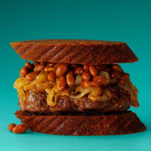 Baked Beans & Onion Burgers Recipe