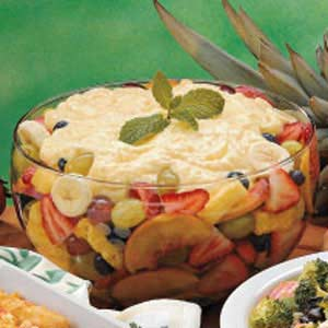 Pudding-Topped Fruit Salad Recipe
