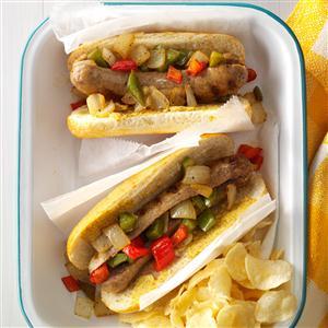 Sausage & Pepper Sandwiches Recipe