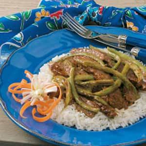 Stir-Fried Beef 'n' Beans Recipe