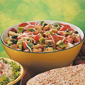 Pepperoni Pizza Salad Recipe